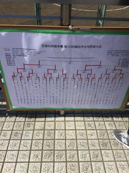 [一軍] 全国共済争奪第10回横浜市少年野球大会 準優勝!